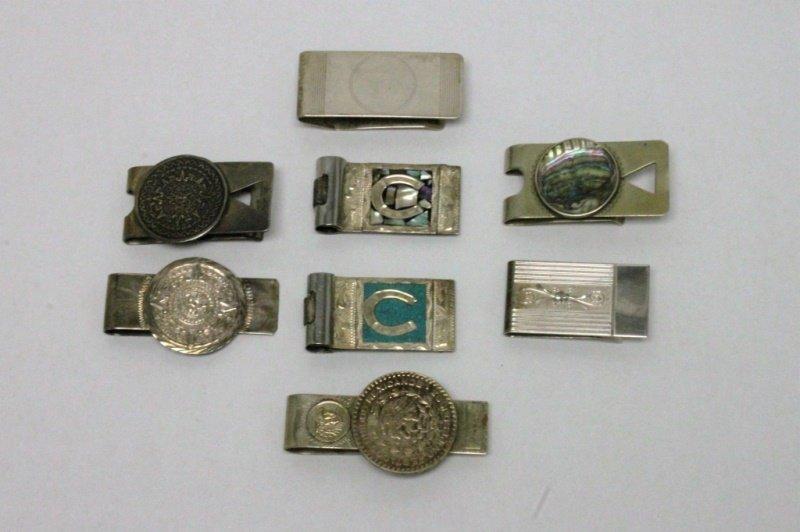 (8) Vintage Sterling Silver Money Clips