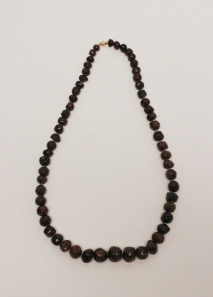 Gdansk Poland Baltic Amber Graduated Bead Necklace