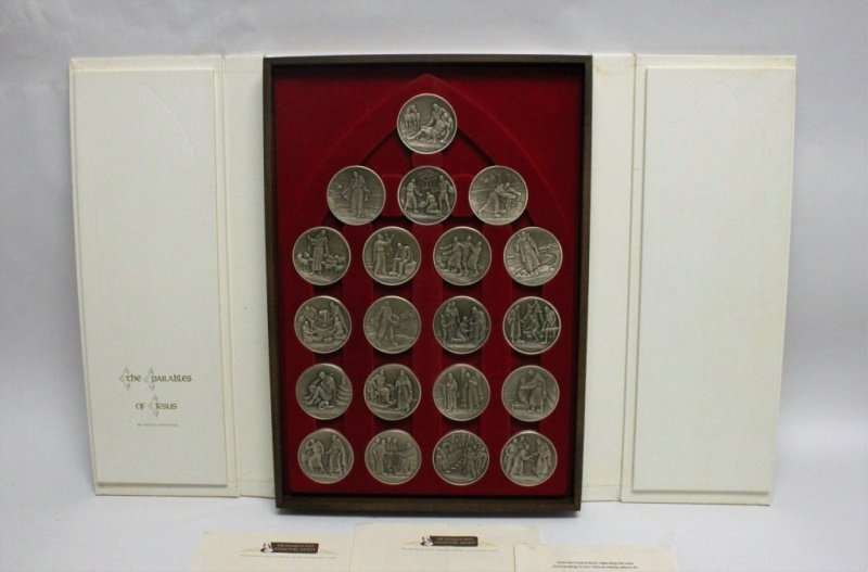 20 Franklin Mint Sterling Silver Parables of Jesus