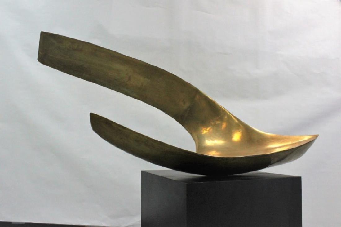 Leonardo Nierman Large Abstract Bronze Sculpture