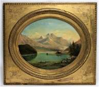 19C Alfred Spencer 1881 Alpine Pastoral Painting