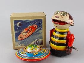 Marx Linemar Robot Bug & German Space Ship