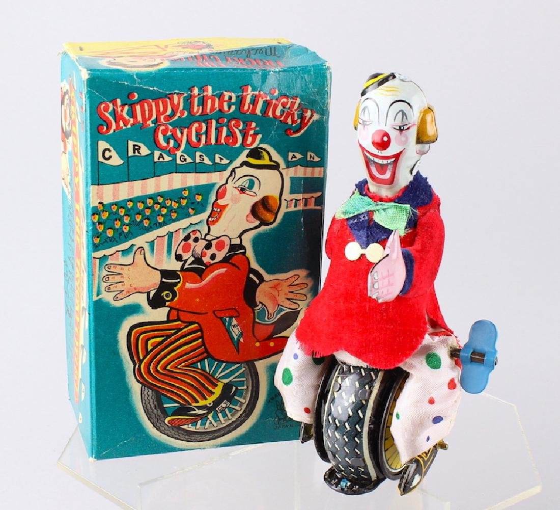 TPS Japan Tin Skippy the Tricky Cyclist Unicycle Clown