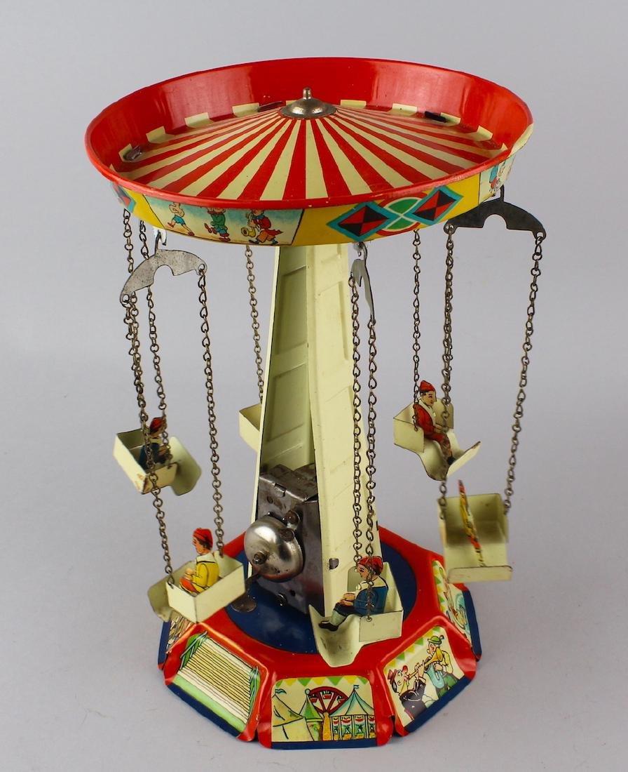 German Tin Carousel Wind Up