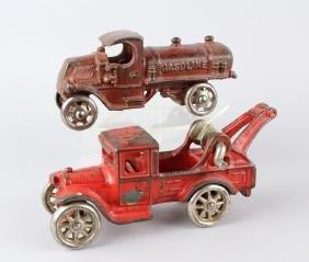 Arcade Tow Truck Wrecker & Gasoline Truck