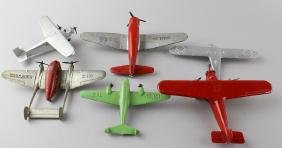 6 Tootsietoys Die-Cast Airplanes Crusader
