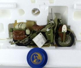 Franklin Mint 1942 Harley Davidson Army Motorcycle