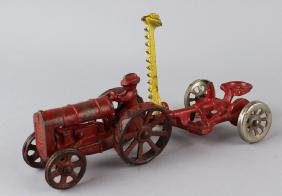 Cast Iron Tractor and Lawn Mower Attachment