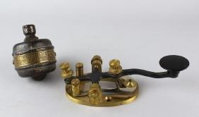Morse Code Telegraph Key & Red Motor Advertising