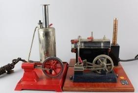 2 Jensen Steam Engines Vertical &Horizontal