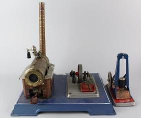 Wilesco Steam Engine Plant & Industrial Hammer