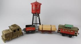 Brass Diesel Locomotive & American Flyer Lot