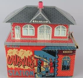 Marx Girard Whistling Train Station in Box
