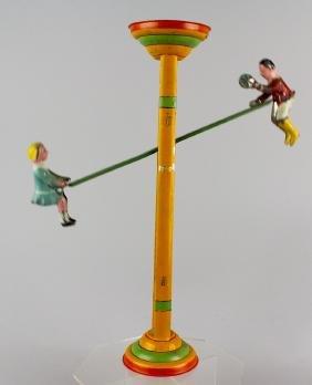 Gibbs Tin See-Saw Toy Boy and Girl