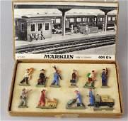 Marklin 404 German Train Station Figures in Box