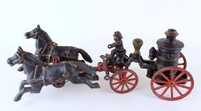 Cast Iron Horse Drawn Fire Pumper