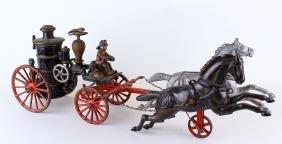 "Ives/Hubley Horse Drawn Fire Pumper  19"""