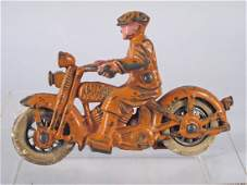 Hubley Cast Iron Harley Davidson Civilian Motorcycle