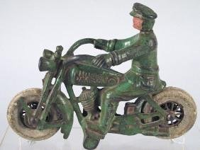 Hubley Cast Iron Cop Cycle