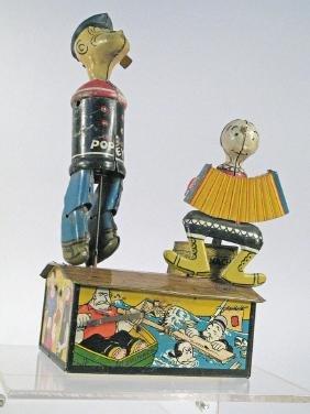 Marx Popeye and Olive Oyl Jigger Toy