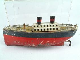German Tin Litho Ocean Liner