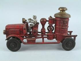 Hubley Cast Iron Fire Pumper