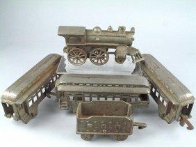 Hubley PRR Cast Iron Floor Train Set