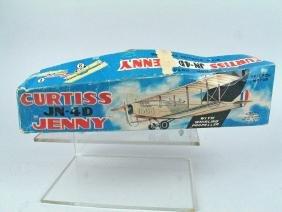 Haji Curtiss Jenny Biplane In Box Japan