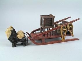 German Dog Sled Wooden 1920\'s