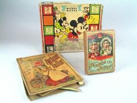 Mickey Mouse Blocks, Punch And Judy Lot