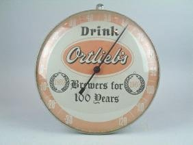 Ortliebs Beer Thermometer Advertising