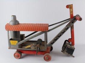 Keystone Pressed Steel Ride Em Steam Shovel