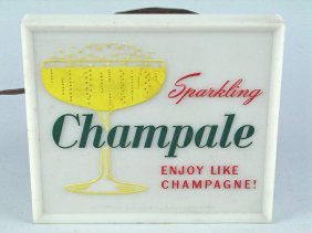 Champale Light Up Beer Sign Advertising 1950's