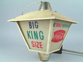 Coca Cola Hanging Advertising Light Up Sign 1950's