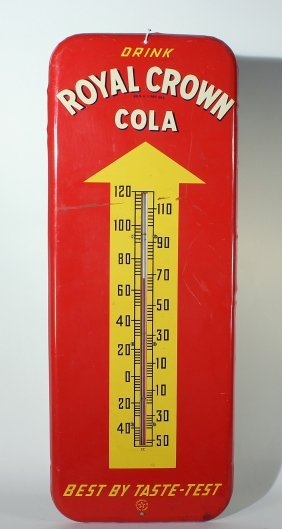 Royal Crown Cola Advertising Thermometer Soda Fountain