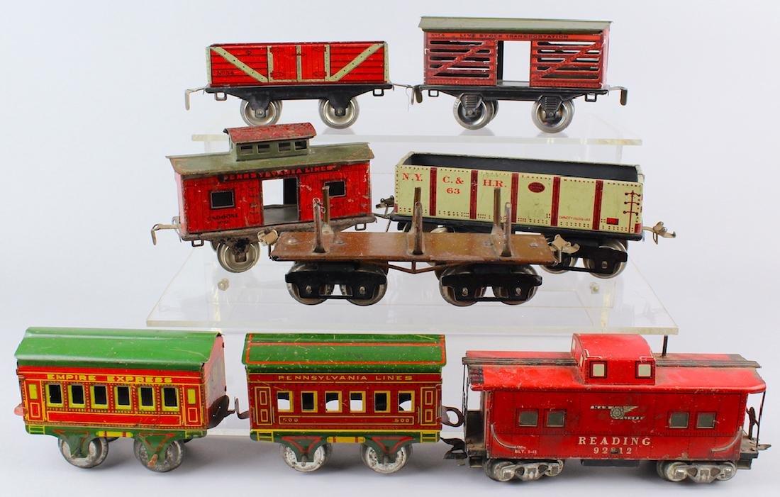 Ives & Louis Marx Train Rail Cars