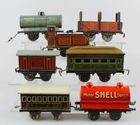 Bing & German Tin Rail Cars