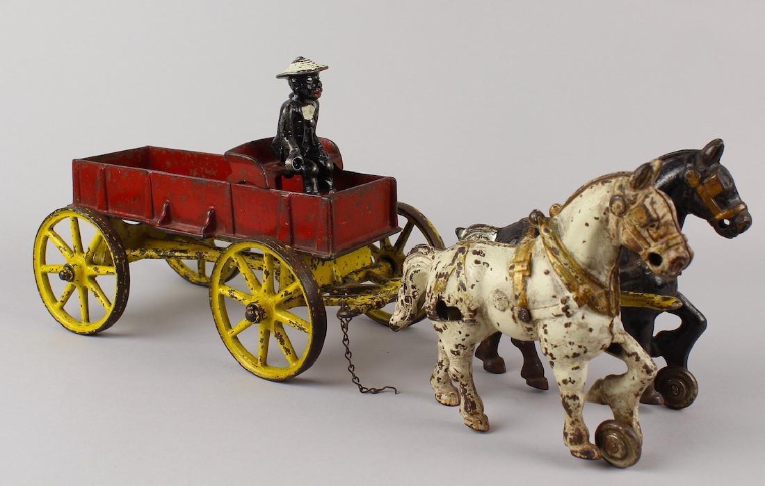 Kenton Horse Drawn Wagon & Black Driver