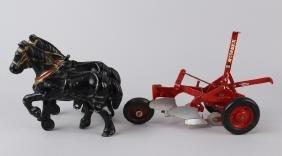Cast Iron Draft Horses & McCormick Plow