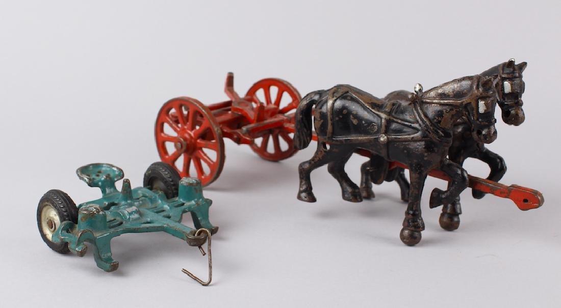 Arcade Cast Iron Wagon & Farm Plow