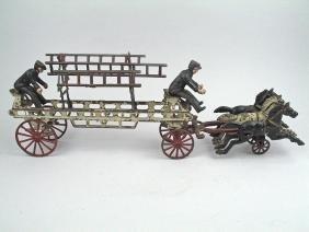 Cast Iron Horse Driven Ladder Truck