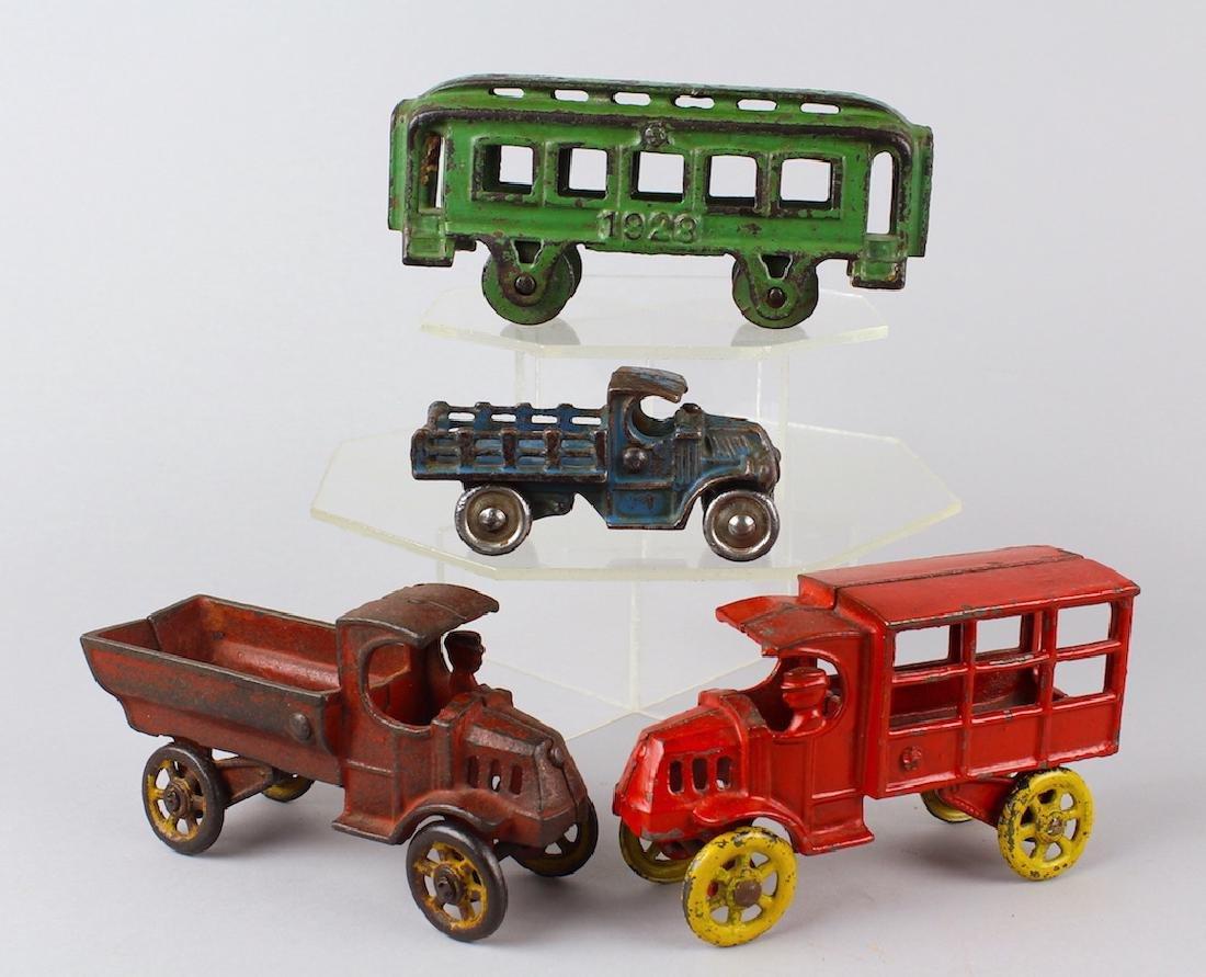 Cast Iron Truck & Trolley Lot Kenton Dent Hubley