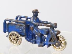 1930s Hubley Motorcycle Crash Car