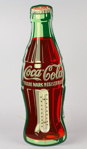 Coca Cola Bottle Advertising Thermometer