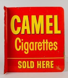 Camel Cigarettes Porcelain Flange Sign