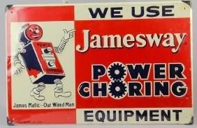 Jamesway Power Choring Robot Sign