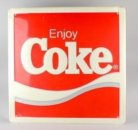 Enjoy Coke Embossed Metal Sign