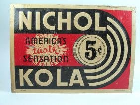 Nichols Kola Advertising Sign, 1930\'s