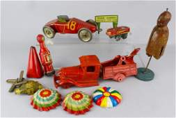 Marx Tin Toy Parts Lot  AC Williams Toy Wood Prototype