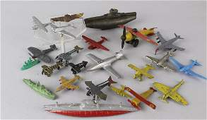 Diecast Airplanes  Ships Tootsie Toy lot